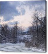 Peaceful Pastels Of A Winter Sunset Canvas Print