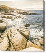 Peaceful Sun Flared Australian Coastline Canvas Print