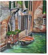 Peaceful Venice Canal Canvas Print