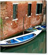 Peacefull Canal Parking Canvas Print