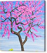 Peach Tree, Painting Canvas Print