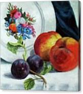 Peaches And Plums Canvas Print