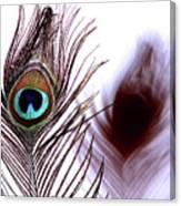 Peacock 8 - Doppleganger Canvas Print