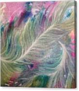 Peacock Feathers Pastel Canvas Print