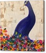 Peacock In My Garden Canvas Print