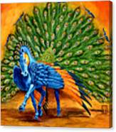 Peacock Pegasus Canvas Print