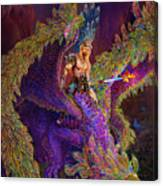 Peacok Dragon Canvas Print