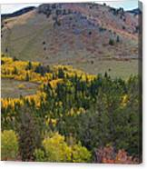 Peak To Peak Highway Boulder County Colorado Autumn View Canvas Print
