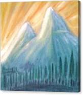 Peaks At Sunrise Canvas Print