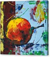 Pear And Sun Canvas Print