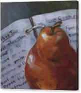 Pear Meets Cookbook Canvas Print