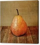 Pear On Cutting Board 1.0 Canvas Print