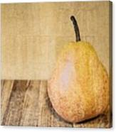 Pear On Cutting Board 2.0 Canvas Print