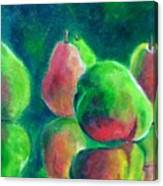 Pear Paintings - Pear Moods Canvas Print