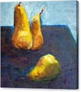 Pear Plus One Canvas Print