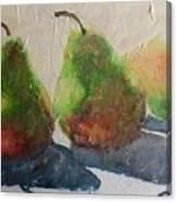 Pear Shadow Canvas Print