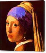 Pearl Ear Ring  Canvas Print