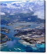 Pearl Harbor Aerial View Canvas Print