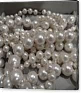 Pearls Canvas Print