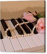 Pearly Pink Keys Canvas Print