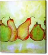 Pears - 2016 Canvas Print
