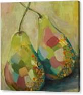 Pears A La Klimt Canvas Print