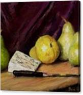 Pears And Cheese Canvas Print