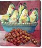 Pears In A Bowl Canvas Print