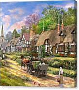 Peasant Village Life Canvas Print