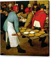 Peasant Wedding Canvas Print