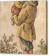 Peasant With Child Canvas Print