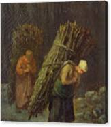 Peasant Women With Brushwood Canvas Print