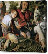 Peasants At The Market Canvas Print