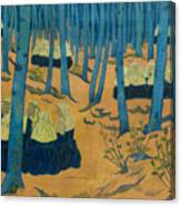 Peasants Gathered In A Sacred Wood_ Canvas Print