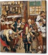 Peasants Paying Tithes By Pieter Bruegel I Canvas Print