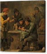 Peasants Playing Dice Canvas Print