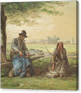 Peasants Resting Canvas Print