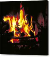 Peat Fire In Ireland Canvas Print