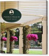 Pebble Beach Golf Shop  Canvas Print