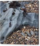 Pebble Beach Rocks 8715 Canvas Print