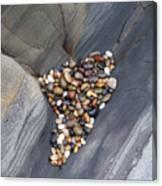 Pebble Beach Rocks 8778 Canvas Print