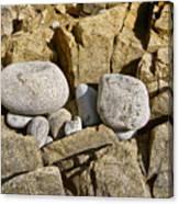 Pebble Pocket Photo Canvas Print
