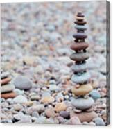 Pebble Stack II Canvas Print