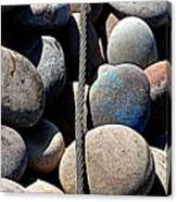 Pebbles And Cable Canvas Print
