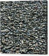 Pebbles On The Beach Canvas Print