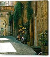 Pedestrian Walkway, Orvieto, Umbria Canvas Print