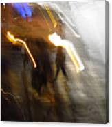 Pedestrians 4  6th Ave Series  Abstract Canvas Print
