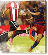 Pedro Rodriguez Kicks The Ball  Canvas Print