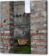 Peek Into The Past - Pompeii Canvas Print