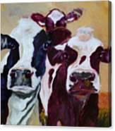 Peeker In The Field Canvas Print